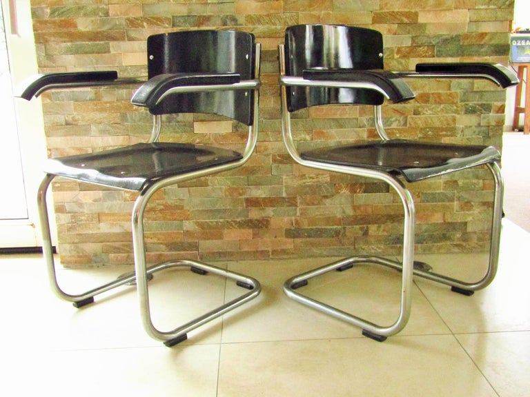 German Original Art Deco Bauhaus Armchairs Breuer/ Stam 1932 For Sale