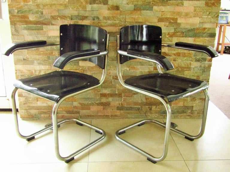 Original Art Deco Bauhaus Armchairs Breuer/ Stam 1932 In Good Condition For Sale In Saarbruecken, DE