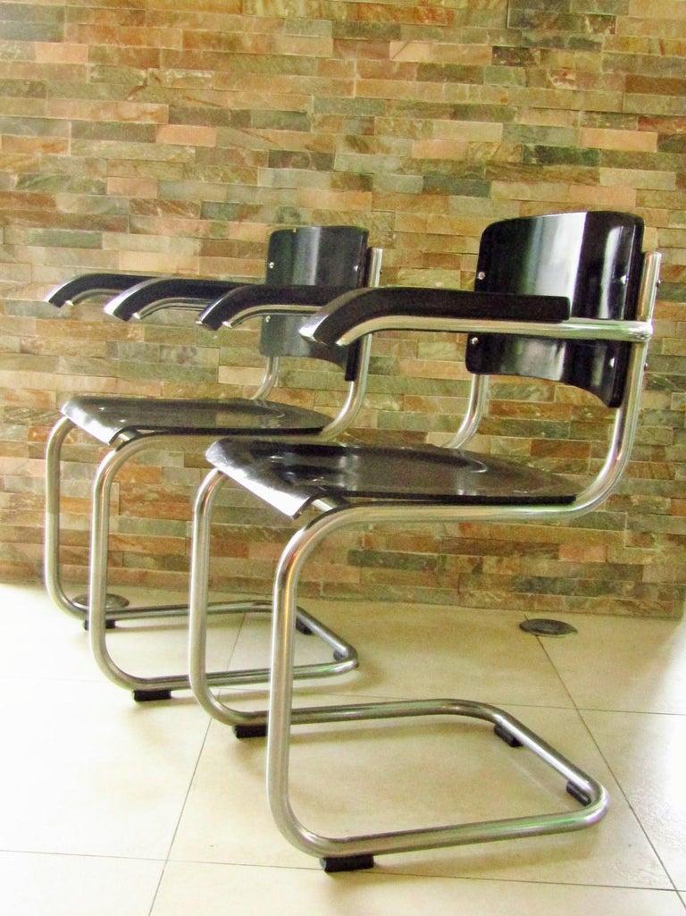 Mid-20th Century Original Art Deco Bauhaus Armchairs Breuer/ Stam 1932 For Sale
