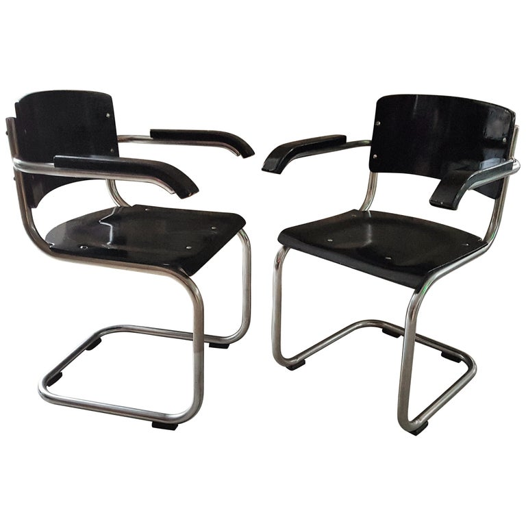 Original Art Deco Bauhaus Armchairs Breuer/ Stam 1932 For Sale