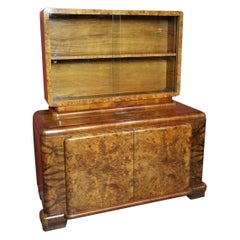 Original Art Deco Cabinet in Burr Walnut