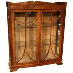 Original Art Deco Display Case in Walnut