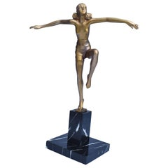 Original Art Deco Female Dancer Figure, circa 1930
