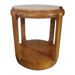 Original Art Deco French Table in Walnut and Briar Root, 1930s