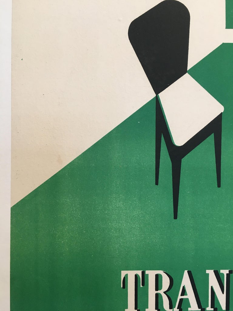 Paper Original Art Deco Furnishing Advertisement 'Au Louvre' Vintage Poster, 1935 For Sale