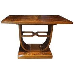 Original Art Deco Italian Coffee Table in Briar Root, 1930s