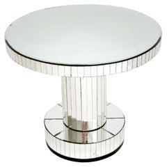 Original Art Deco Period Mirrored Glass Occasional / Coffee Table