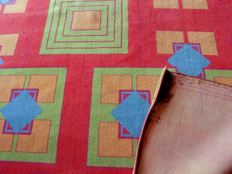Original Art Deco Rug from the Arizona Biltmore by Albert Chase McArthur In Good Condition For Sale In Van Nuys, CA
