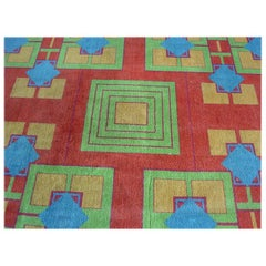 Original Art Deco Rug from the Arizona Biltmore by Albert Chase McArthur