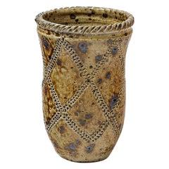 Original Art Decorative Brown Ceramic Vase by Jean & Jacqueline Lerat La Borne