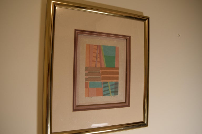 Mid-Century Modern Original Art Work by C. Dunlap for Harris Strong For Sale