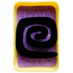 "Original Artist Earrings ""Espiral Negro"""