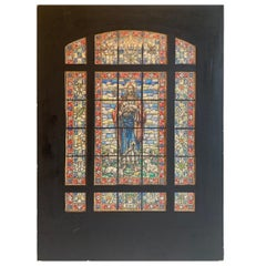 Original Artist Rendering Water Color Qouache Design of a Stained Glass Window