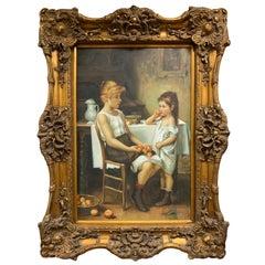 Original Artist Signed Oil Painting Lenmam
