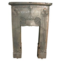 Original Arts & Crafts Fireplace with Stylised Floral Details