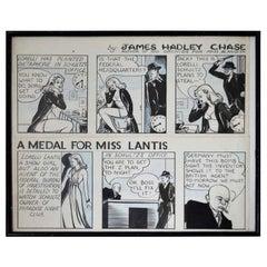 Original Artwork for a Detective Newspaper Strip, 1940s