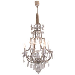 Original Austro, Hungary Baroque Glass Chandelier, 18th Century