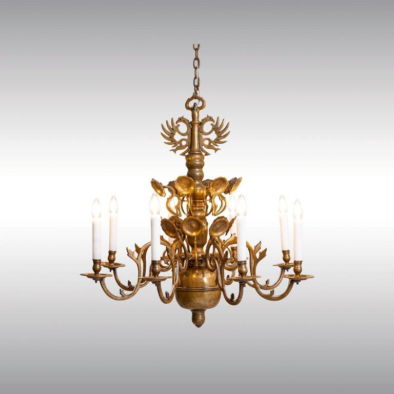 Baroque Revival Original Austro, Hungary Polish Baroque Style Chandelier, 18th Century, 1780 For Sale