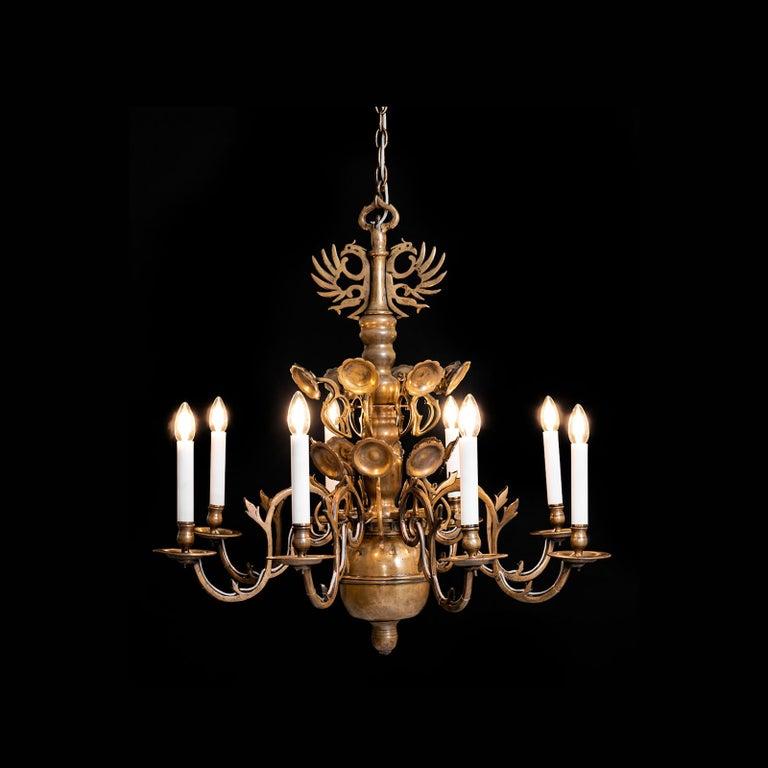 Austrian Original Austro, Hungary Polish Baroque Style Chandelier, 18th Century, 1780 For Sale