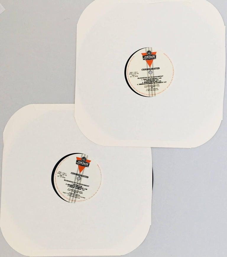 Late 20th Century Original Barbara Kruger Vinyl Record Art For Sale