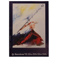 Original Barcelona 1992 Olympic Poster by Josep Guinovart for the XXV Olympiad