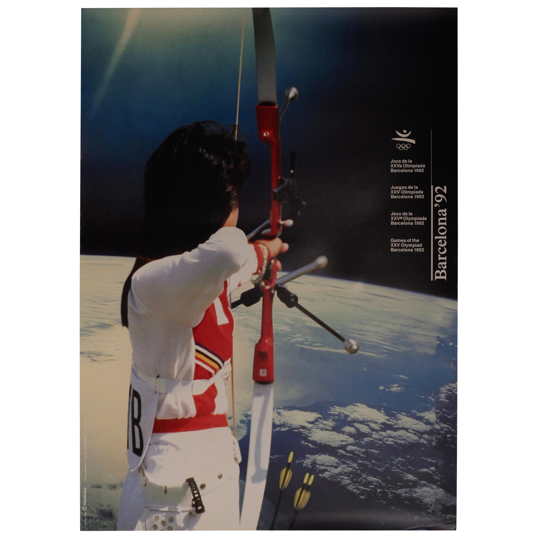 Original Barcelona Summer Olympic Poster 1992 Designed by Addison