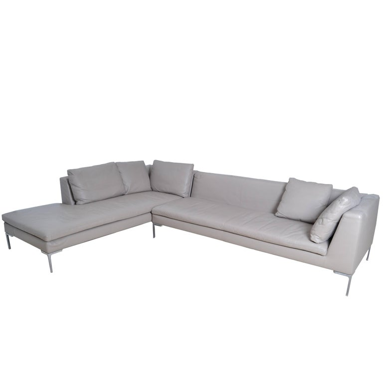 Original B B Italia Leather Sectional Sofa For Sale At 1stdibs