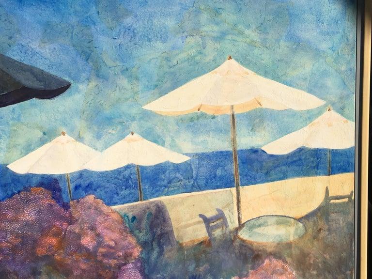 Late 20th Century Original Beach Scene Painting