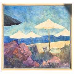 "Original Beach Scene Painting ""Laguna Beach"" by Duzan, 1991"
