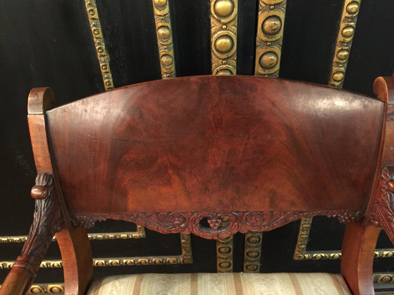 19th Century Empire Style a Russian Armchair For Sale 5