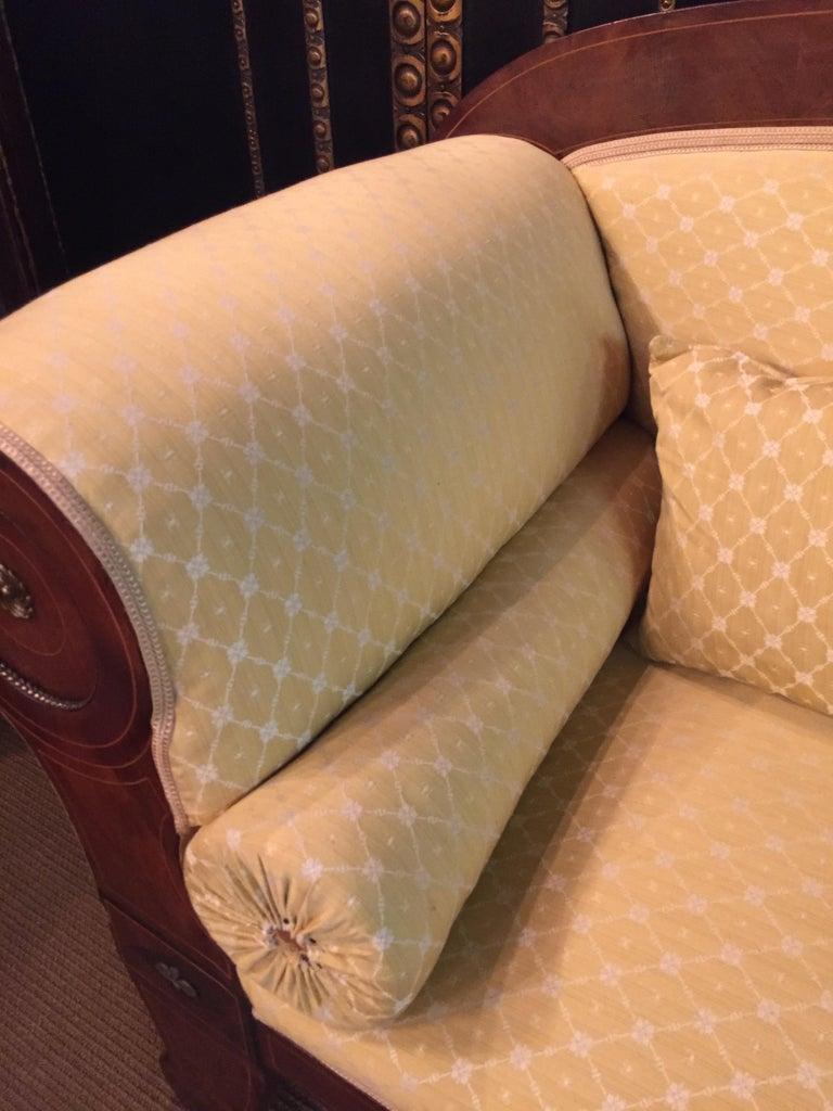 Original Biedermeier/Empire Sofa with  Bronze Applikationen, circa 1810  For Sale 3