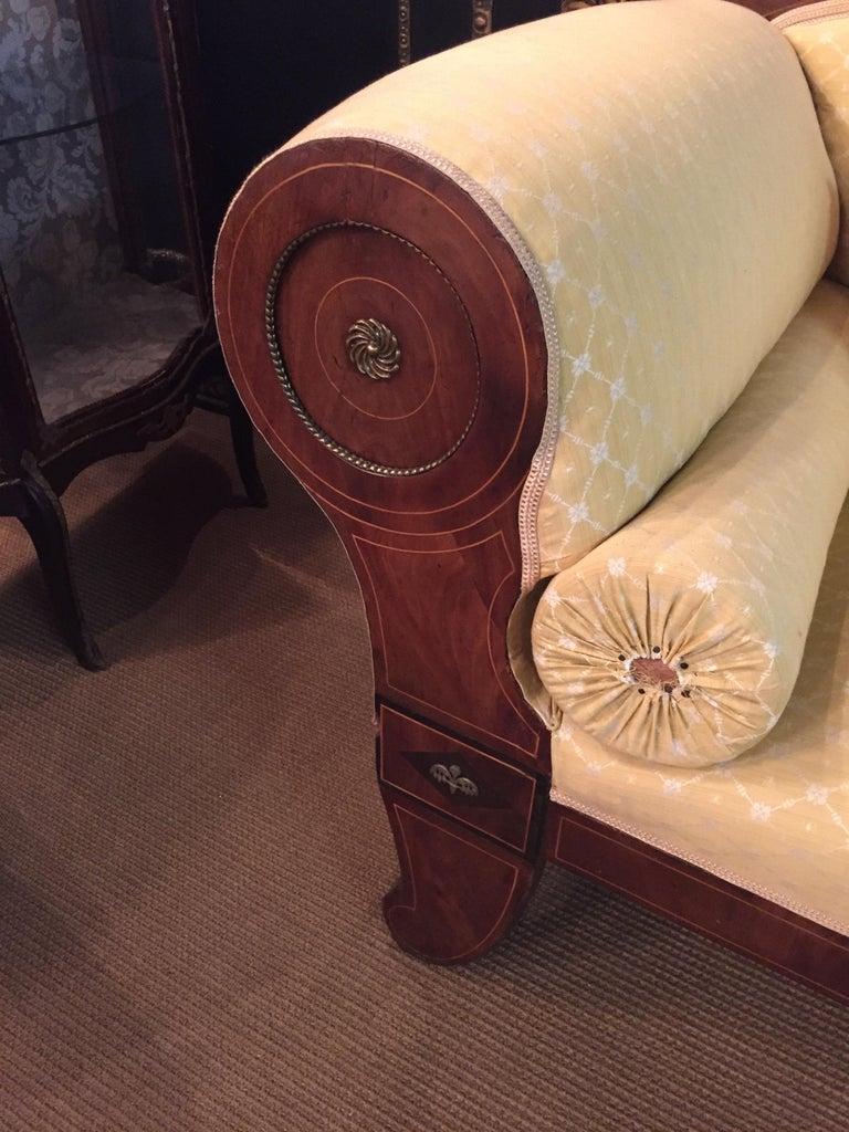 Original Biedermeier/Empire Sofa with  Bronze Applikationen, circa 1810  For Sale 4
