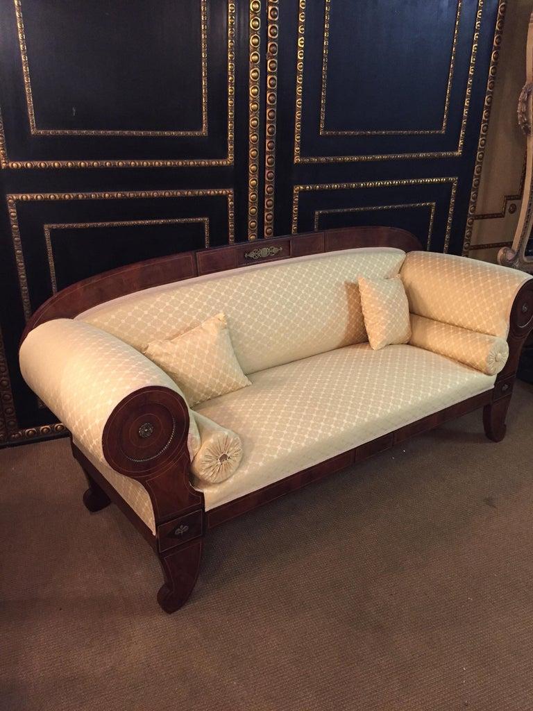 Original Biedermeier/Empire Sofa with  Bronze Applikationen, circa 1810  For Sale 5