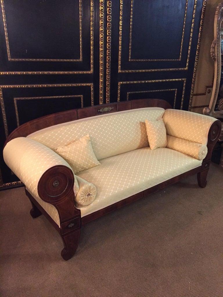 Original Biedermeier/Empire Sofa with  Bronze Applikationen, circa 1810  For Sale 6