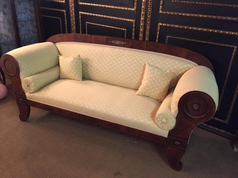 Original Biedermeier/Empire Sofa with  Bronze Applikationen, circa 1810  For Sale 8
