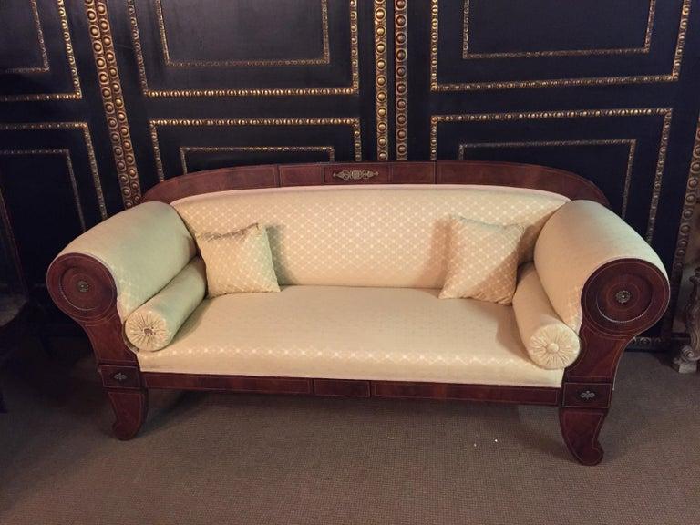 Original Biedermeier/Empire Sofa with  Bronze Applikationen, circa 1810  For Sale 11
