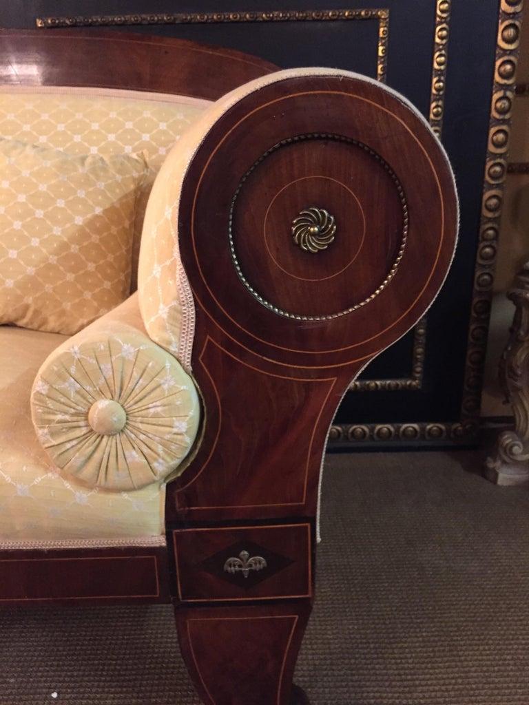 Mahogany Original Biedermeier/Empire Sofa with  Bronze Applikationen, circa 1810  For Sale