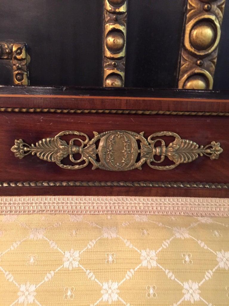 Original Biedermeier/Empire Sofa with  Bronze Applikationen, circa 1810  For Sale 1