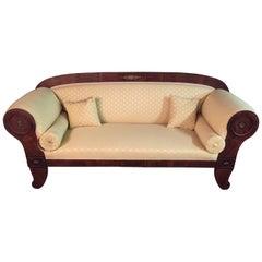 Original Biedermeier/Empire Sofa with  Bronze Applikationen, circa 1810
