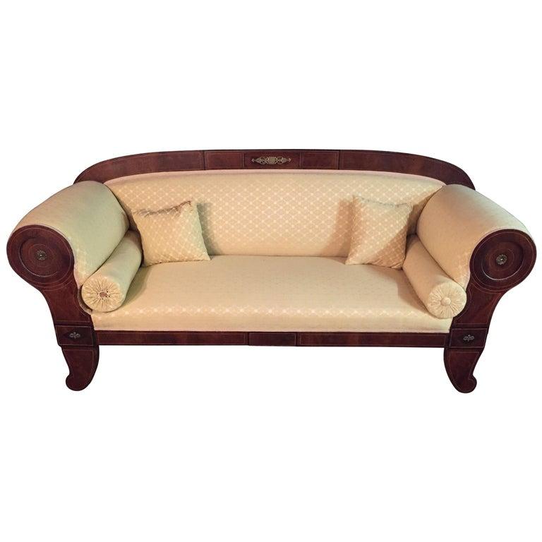 Original Biedermeier/Empire Sofa with  Bronze Applikationen, circa 1810  For Sale