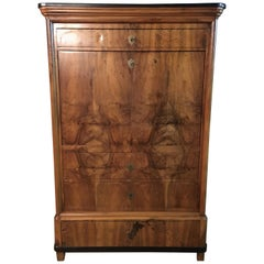 Original Biedermeier Secretary circa 1835 Walnut