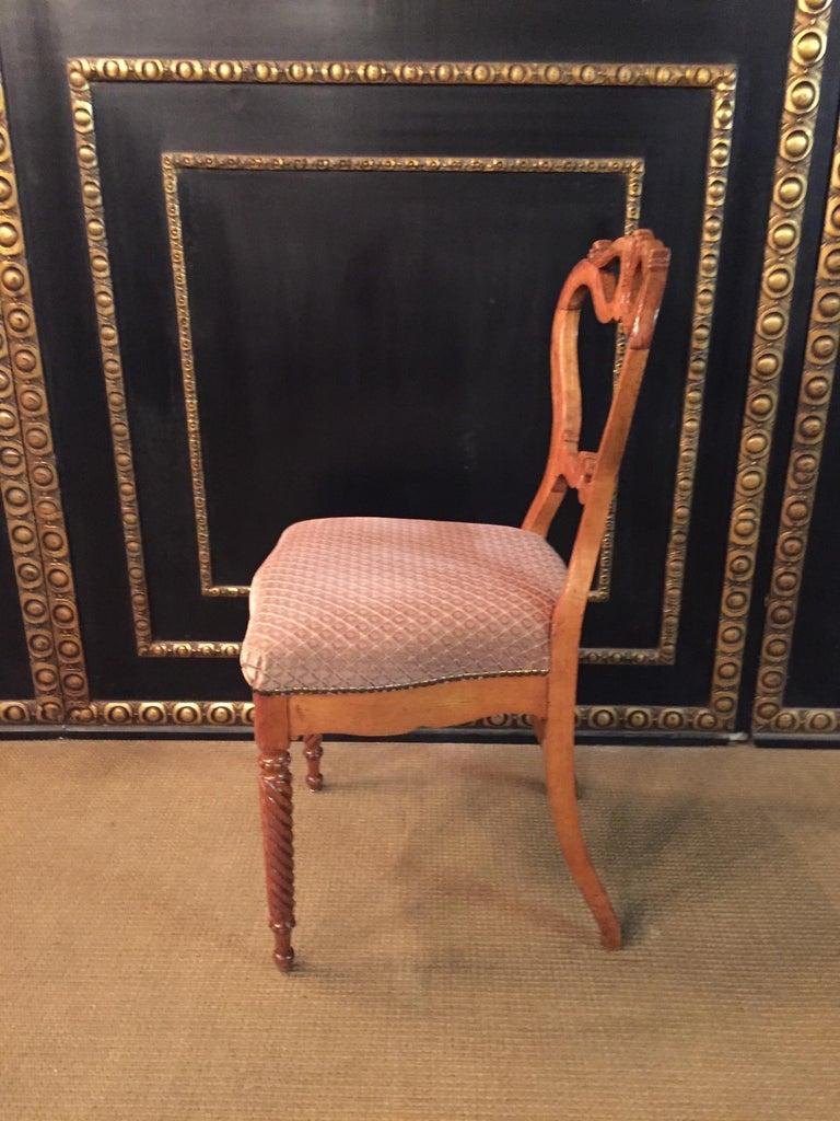 Original Biedermeyer Table with 4 Chairs circa 1850 Ashwood For Sale 4