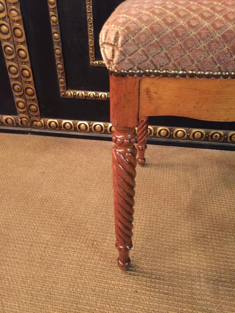 Original Biedermeyer Table with 4 Chairs circa 1850 Ashwood For Sale 5