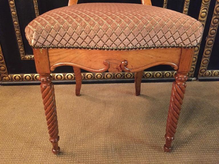 Original Biedermeyer Table with 4 Chairs circa 1850 Ashwood For Sale 6