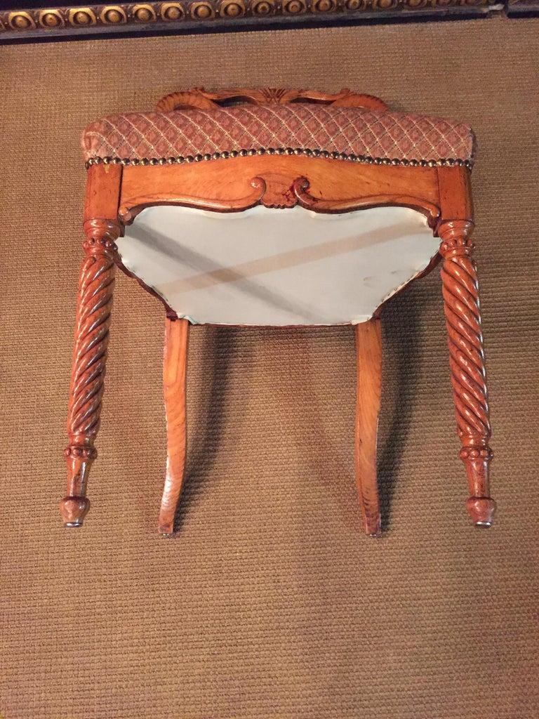 Original Biedermeyer Table with 4 Chairs circa 1850 Ashwood For Sale 7