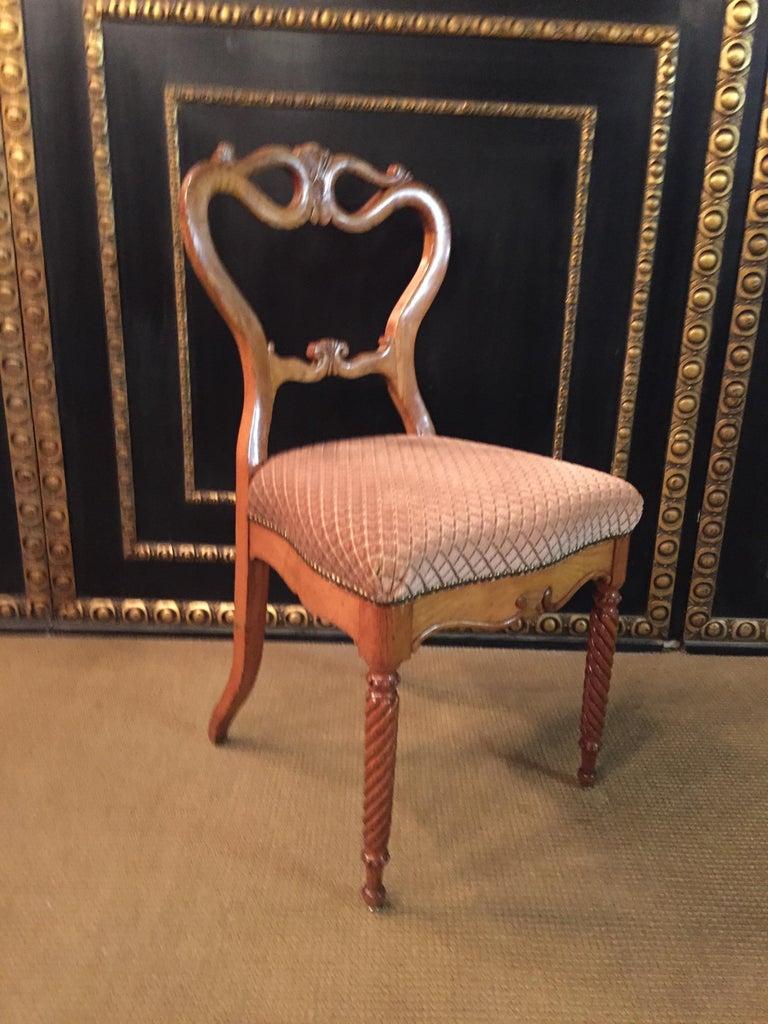 Original Biedermeyer Table with 4 Chairs circa 1850 Ashwood For Sale 8