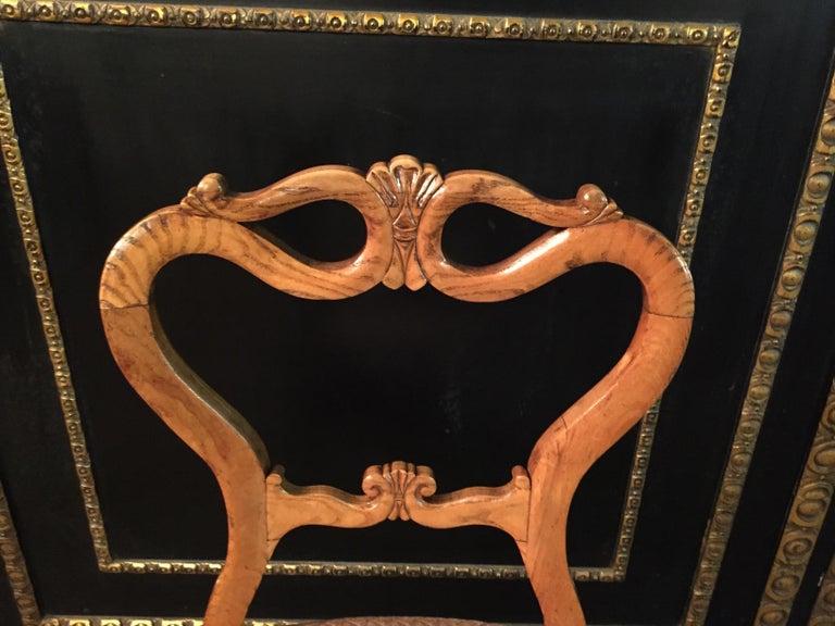 Original Biedermeyer Table with 4 Chairs circa 1850 Ashwood For Sale 9