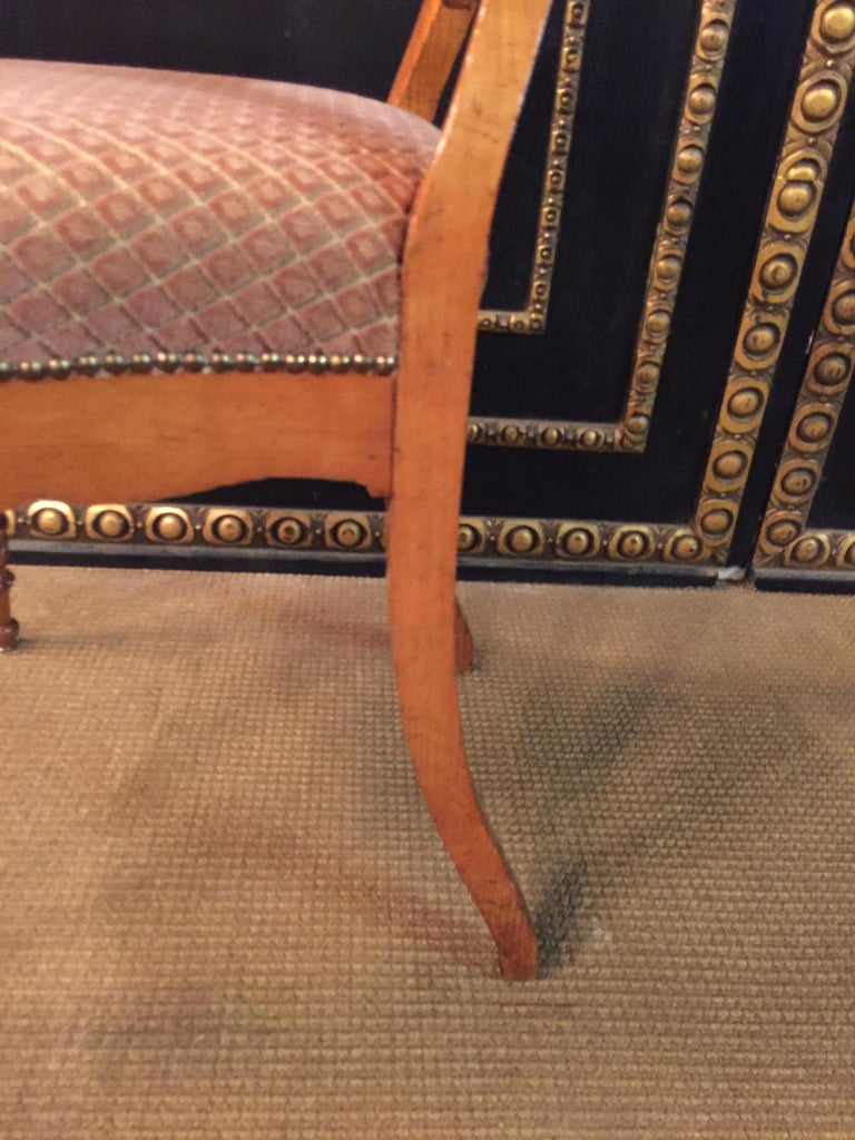Original Biedermeyer Table with 4 Chairs circa 1850 Ashwood For Sale 10