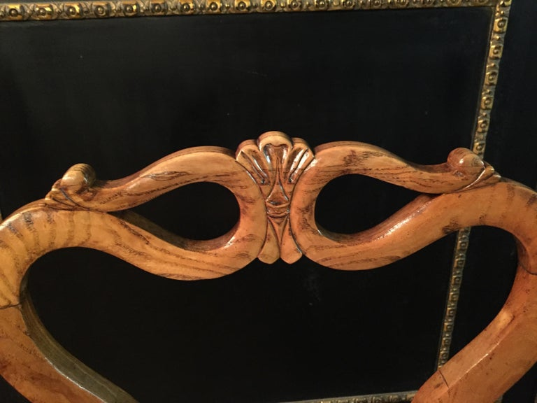 Original Biedermeyer Table with 4 Chairs circa 1850 Ashwood For Sale 11