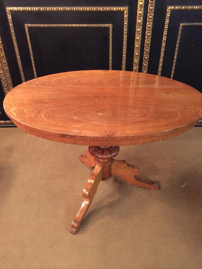 Biedermeier Original Biedermeyer Table with 4 Chairs circa 1850 Ashwood For Sale